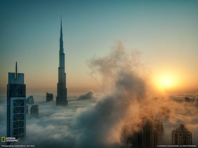 El Burj Khalifa, edificio más alto del mundo.